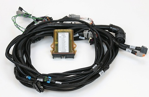 engine control harness with processor_orig peterbilt glider kits, glider kit trucks, kenworth glider kits Freightliner Trailer Plug Wiring at alyssarenee.co